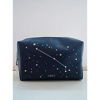 Horoscope Aries Constellation Makeup Bag Cosmetics MUA Storage Handbag Travel Bag Wash Bag Case