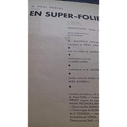 Folies bergeres. un coup de folie. super-spectacle en 60 sensations. de m. lois lemarchand. circa 1930