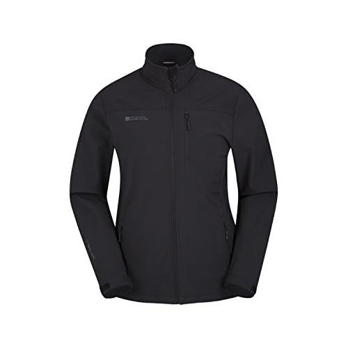 31xc%2BJbUnOL. SS500  - Mountain Warehouse Grasmere Mens Softshell Jacket - Water Resistant Raincoat, Breathable Mens Coat,