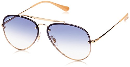 Ray-Ban RAYBAN Unisex-Erwachsene Sonnenbrille 0rb3584n 001/19 61 Gold/Cleargradientlightblue