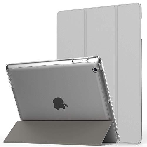 MoKo Hülle für iPad 2/3 / 4 - PU Leder Tasche Schale Smart Case mit Translucent Rücken Deckel, mit Auto Schlaf/Wach Funktion und Standfunktion für Apple iPad 2/3 / 4 9.7 Zoll Tablet-PC, Silber - 4. 64 Ipad Generation Gb