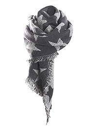 8ab6489e8204 YJZQ Écharpe Femme Hiver étole Châle épais à étoile Géant Foulard avec  Frange foulards Automne Hiver