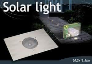 lampe solaire spot a encastrer sans fil pour terrasse ou jardin luminaires et eclairage. Black Bedroom Furniture Sets. Home Design Ideas