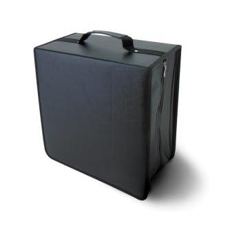 NIERLE CD/DVD/Blu-Ray Malette pour 500 Discs, synthetic cuir, noir