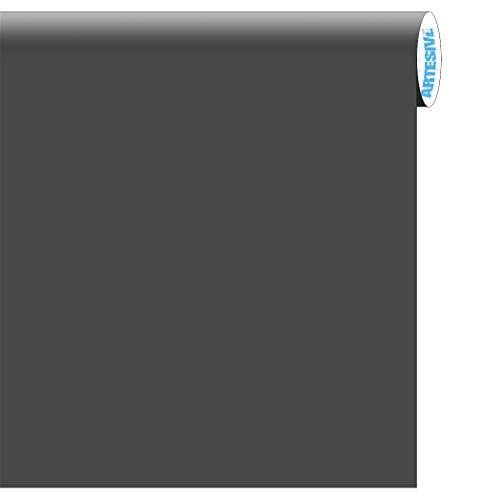 Artesive ma-029 grigio grafite opaco larg. 122 cm al metro lineare- pellicola adesiva tinta unita per decorazione interni per rinnovare mobili, porte e oggetti di casa
