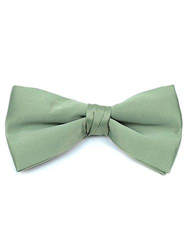 TheDapperTie Junge Jungen Pre-Gebunden Clip auf Bow Tie - Formal Tuxedo Einheitsgröße Salbei - Poly Tuxedo Bow Tie