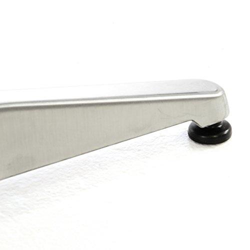 Stehtisch Bartisch 110 cm Aluminium silber glänzend Tischplatte 60 cm Platte 2 cm Edelstahl Hochzeit Empfangstisch Bistrotisch - 4