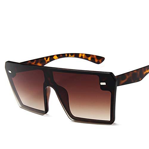 SYQA Neue dünne Flache Oberseite Suqare große Sonnenbrille-Frauen-Retro- Weinlese-Sonnenbrille-Frau Kim Sunglasses,C6