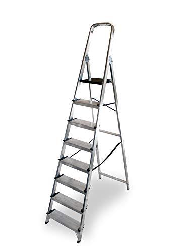 ALTIPESA - Escalera Doméstica de Aluminio, Peldaño 12 cm. 8 peldaños