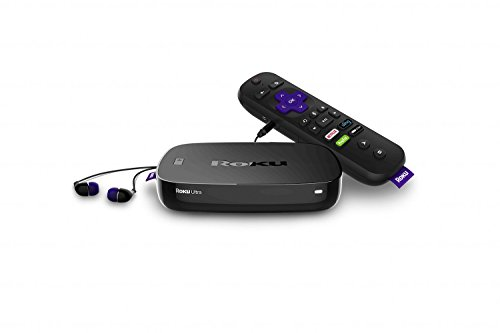 Roku Ultra 2017 | 4K/HDR/HD Streaming Player with Enhanced Remote (Voice, Remote Finder, Headphone Jack, TV Power and Volume), Ethernet, MicroSD and USB