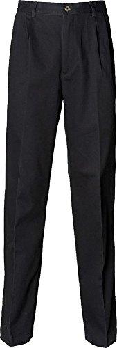 Henbury rivestito in Teflon, con pieghe anteriori Pantaloni Chino-Pantaloni da uomo in Twill di cotone