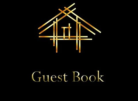 Guest Book: Open House Sign In Book, Blank Lined Guest Book For Open House, (8.25
