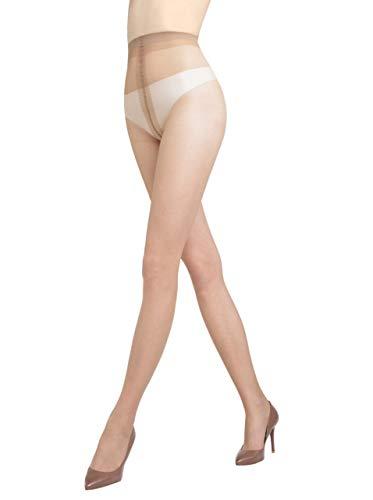 Gatta Eve 8den - elegante dünne transparente Seiden-Feinstrumpfhose - Größe 4-L - Grigio-grau