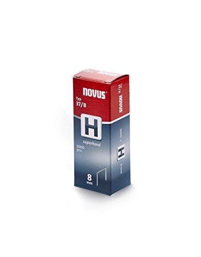 Novus 042-0536 Carton de 5000 Agrafes fines 37/8 mm Renforcées Rouge
