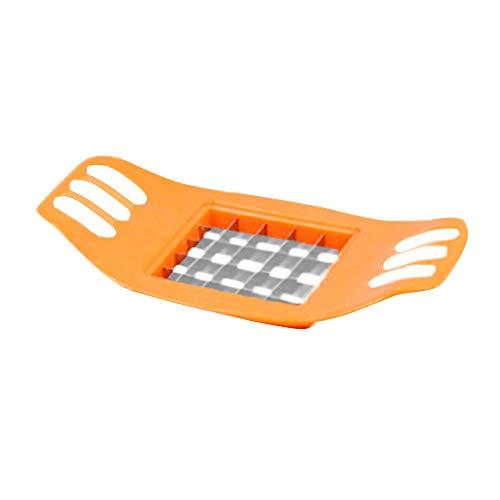 Gemüsekartoffel Allesschneider Elektrischer Allesschneider Slicer Schneider Zerhacker Chips, die Werkzeug-Kartoffel Schneidwerkzeug Machen (Orange)