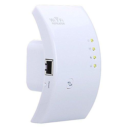 Wlan Repeater, MECO LAN-Port WIFI Signalverstärker ( 300 Mbit/s, 2,4GHz, mit WPS Taste / Repeater / Access Point-Modus) WLAN Booster WLAN Range Extender EU-Stecker-Weiß