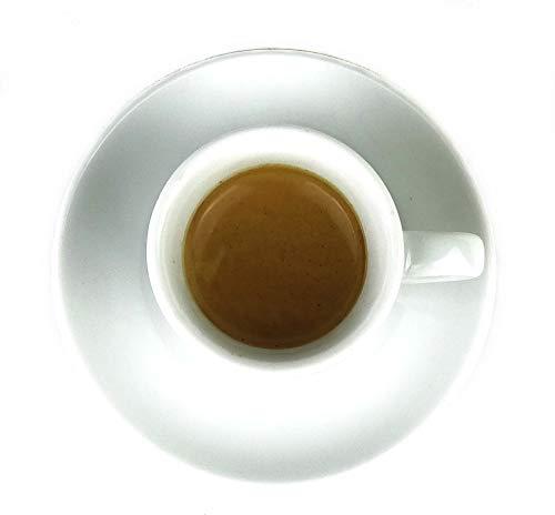 Extra dickwandige italienische Espressotasse »Verona« (0,85 cm Tassenwand / 75 ml), handgemacht (1 Tasse & Untertasse) / Made in Italy - 4