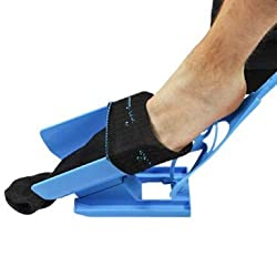 UPP Anziehhilfe 3 in 1 - Sockenhilfe für Strümpfe & Socken - Anzieher + Auszieher + Schuhlöffel - ideal für Senioren, Schwangere und Beeinträchtigte