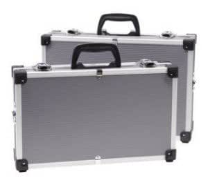 lot de 2 malettes valises a bandouliere aluminium pour rangement d'outils ou papiers: Amazon.fr ...