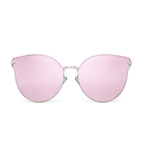 YUBIN Polarisierte Licht Sonnenbrille Katzenauge Koreanische Version Gezeiten Persönlichkeit Vintage Sonnenbrille Weibliche Mode Gezeiten Metall Net Red Brille (Farbe : Black) (Klare Vision Sammlung)