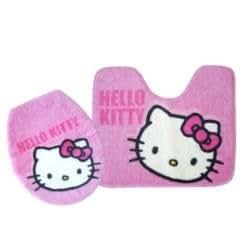 Hello Kitty Badezimmer Garnitur Teppich Face Sanrio Rosa: Amazon.de:  Spielzeug