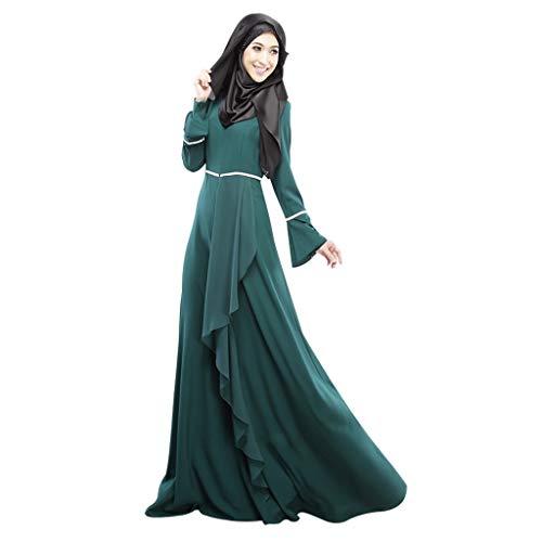 e0579eb6ffe Femmes Musulman Robes - Islamique Vêtements Abayamaxi Robe Caftan Fête  Occasion Manches Longues À Lacets Habillage