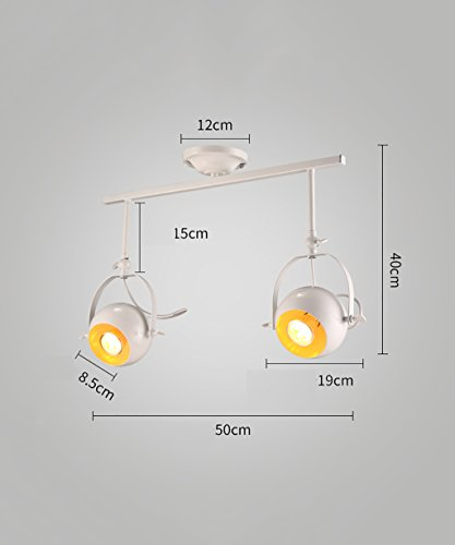 WUFENG Projecteurs Embedded Spotlights Plafonniers LED projecteur Retro Track Lighting ( Couleur : Blanc , taille : C )