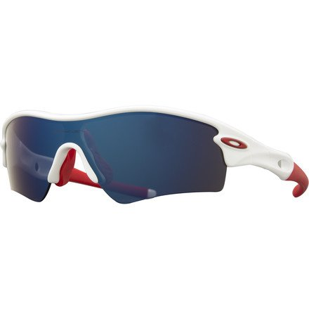 Oakley Radar Path Sunglasses, Polished White/Red