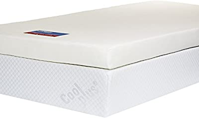 Southern Foam Memory Foam Mattress Topper with Cover, 4 inch