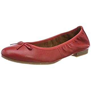 Tamaris Damen 22116 Ballerinas, Rot (Chili Leather), 39 EU