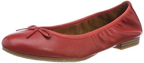 Tamaris Damen 22116 Ballerinas, Rot (Chili Leather), 38 EU