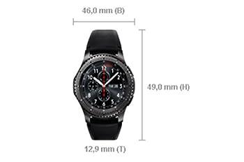 Samsung Sm-r760ndaadbt Gear S3 Frontier Smartwatch (3,3 Cm (1,3 Zoll) Display, Nfc, Bluetooth, Wlan, Tizen Os, Mit Silikon-armband) 9