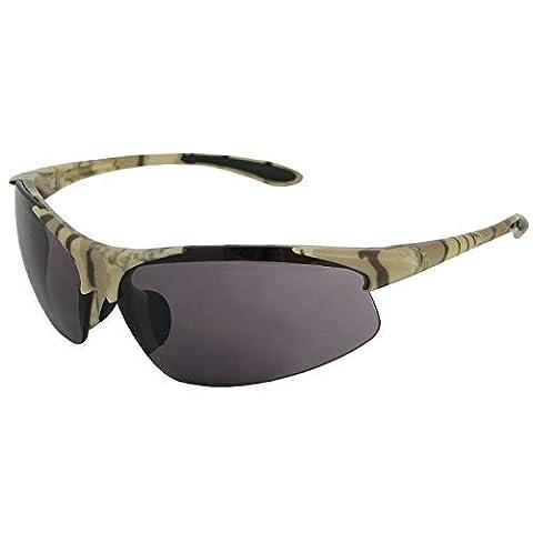 ERB 18615 Commandos Safety Glasses, Walnut Camo Frame with Smoke Lens by ERB