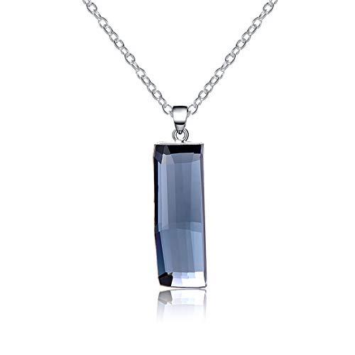 Aprilery in placcato 18k, con cristalli swarovski elements-collana donna con ciondolo, colore: blu scuro, da donna, moda, 50cm (19.6