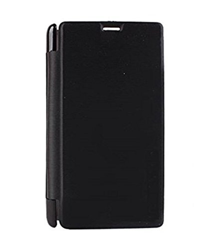 Brynn Original Premium Leather Black Flip Cover for Intex Aqua I5 Octa  available at amazon for Rs.199