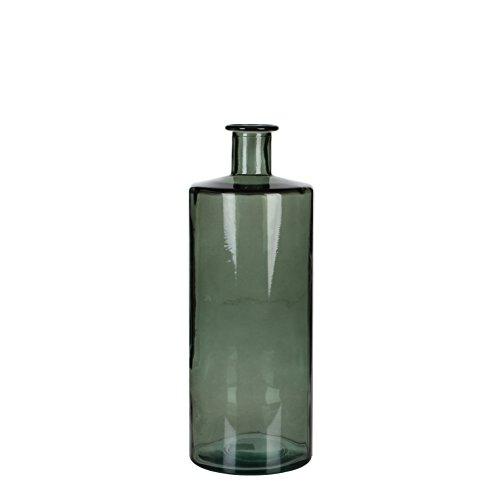 Mica decorations Guan Flasche/Vase, Glas, grau, H. 40 cm D. 15 cm