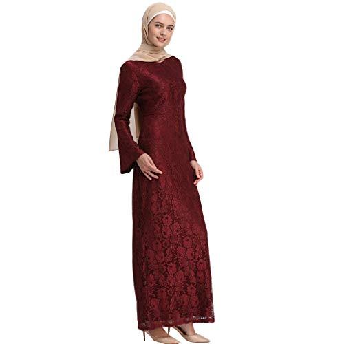 Muslimischen Kostüm - Muslimische Kleider aus Spitzen Stickerei Langes Schlank Maxikleid Muslim Robe Kleider Islamische Kleidung Abaya Dubai Hochzeit Kostüm Elegante Muslimischen Kaftan Kleid