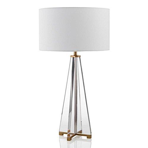 JUNMIN E27 creativo Croce di cristallo lampada da tavolo per hotel da letto Soggiorno Bedside (Cristallo Turchese Croce)