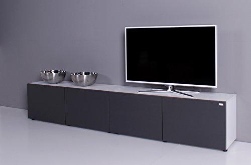 TV Lowboard NOOMO weiß / anthrazit
