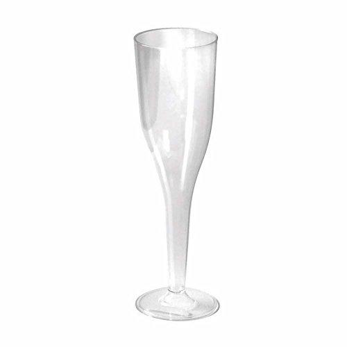 First 210FLUTM1 Flûte à champagne Plastique/PS polystyrène Transparent 5 x 50 x 26 cm 10 Pièces
