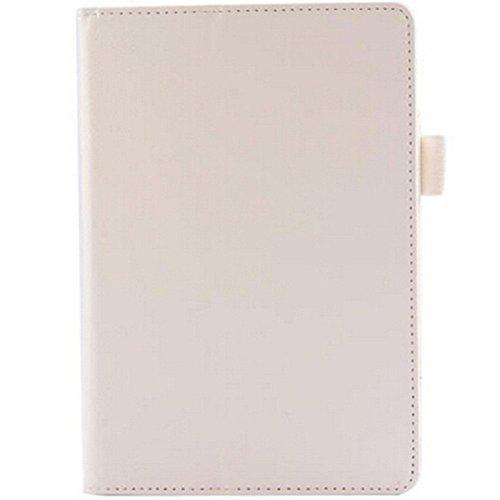EVTECH (TM) Kindle Fire HD 7 Tablet (2014 octobre presse) FoldCase slim en cuir Housse de protection permanent avec Auto / Veille Feature (ne se adapte Fire HD 7 4ème génération 2014 modèle) -Blanc FoldCase avec Bling Crystal Papillon Strass