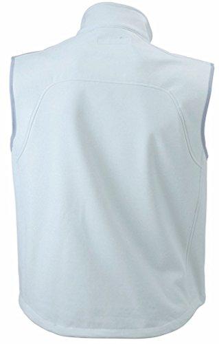 Herren 3-Lagen Softshell Weste Off White