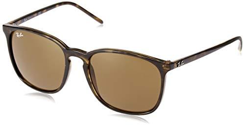 Ray-Ban Herren 0RB4387 Sonnenbrille, Braun (Havana), 55