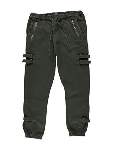 DEF Lucio Herren Anti Fit Jeans Cargo Hose grün W 32