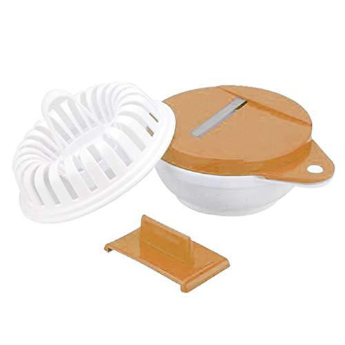 Floridivy Kartoffel-Chip-Röster-Maschine Backen Siebkorb Ungebratene Maschine Mikrowelle Scheibe Platte Cutter Chipper Slicer DIY Set