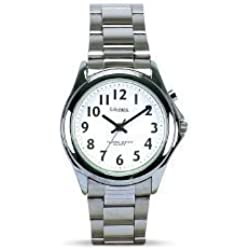 Mens Talking Watch with Steel Finish - Bracelet Strap