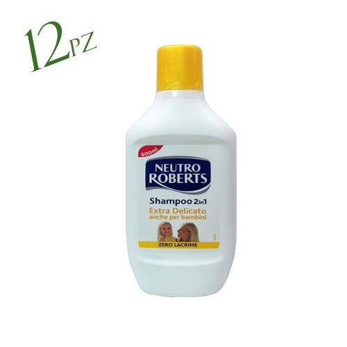 12 x NEUTRO ROBERTS Shampoo 2in1 Extra Delicato 500 Ml