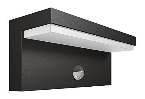 Philips myGarden LED Wandaussenleuchte Bustan, Anthrazit, Bewegungsmelder, Gartenleuchte