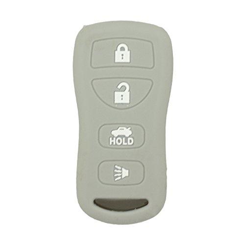 fassport Silikon Cover Haut Jacke Fit für Nissan 4Tasten Fernbedienung Schlüssel Fall cv2508