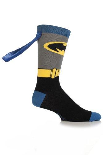 Comic-Helden Herren 1 Paar SockShop Batman Cape Socks 11-13 Mens Bunt